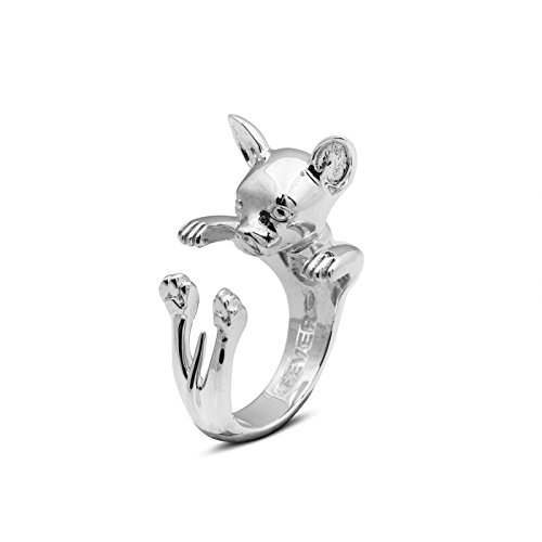 Anello-Hug-Ring-Cane-Argento-925-Chihuahua-Dog-Fever
