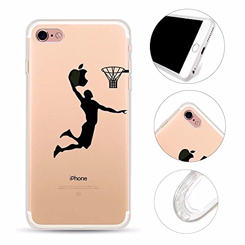 iPhone 6S Plus Hülle, iPhone 6 Plus Case, QianYang Ultra Thin TPU Transparent Muster Handyhülle Crystal Klar Silikon Weich Pattern Schutzhülle Cover Schale Tasche für iPhone 6S Plus / 6 Plus - Slam Dunk Master (Mädchen Dunk)