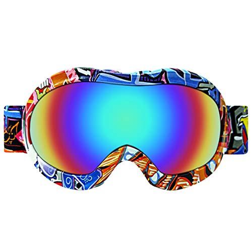 Fantasyworld professionale ultra-elastico obiettivo di sci occhiali da sci da neve occhiali polvere libera unisex confortevole per i bambini outdoor