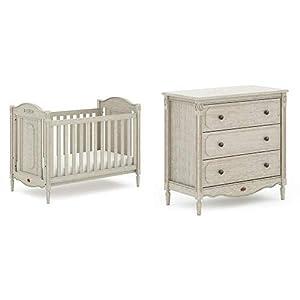 Boori Grace 2 Piece Nursery Room Set, Antiqued Grey   1