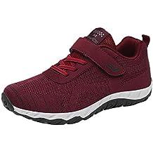 Zapatillas de Mujer Deporte Planas de Malla Transpirable Zapatos Casuales de Shoes de Malla Aire Libre