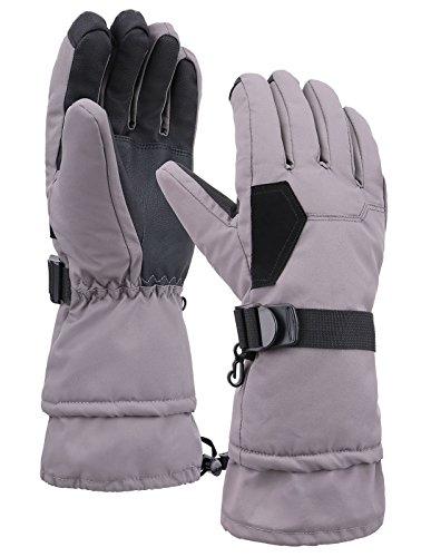 Livingston Herren Deluxe Thinsulate-Futter Touchscreen Winter Sport Handschuhe, Herren, Grau, X-Large (Burton Snow-handschuhe)