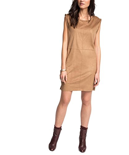 Esprit EDC 026CC1E023 - Robe - Manches courtes - Femme Marron (Toffee)