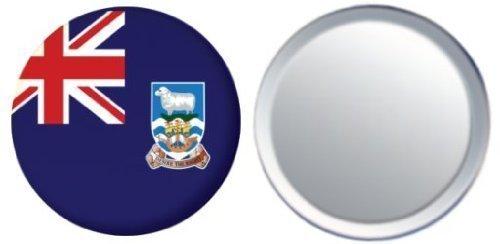 Miroir insigne de bouton Iles Falkland drapeau - 58mm