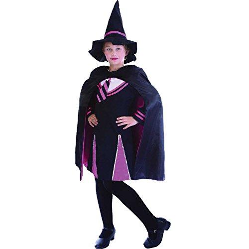 Magier Kostüm Mädchen - Magier-Mädchen - Kinder- Kostüm - Large - 134cm bis 146cm