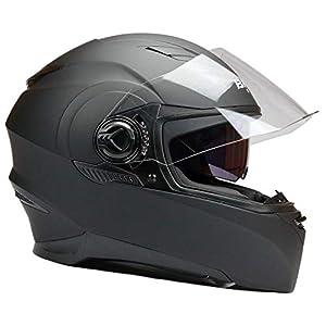 YEMA Motorradhelm Integralhelm Rollerhelm Fullface Helm YM-829 Sturzhelm ECE mit Doppelvisier Sonnenblende f/ür Damen Herren Erwachsene-Wei/ß-L