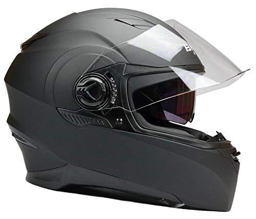 BNO Integralhelm Motorradhelm Helm F06M Matt Schwarz Größe S -XL (XL)