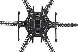 HMF S550 Kit de châssis en fibre de carbone RC Hexacopter + train d'atterrissage 6 axes FPV F550 Flamewheel mise à niveau