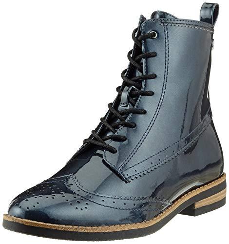 Tamaris Damen 25119-21 Combat Boots, Blau (Navy Patent 826), 40 EU