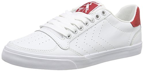 Hummel Slimmer Stadil Ace Unisex-Erwachsene Low-Top Weiß (White/Red 9134)