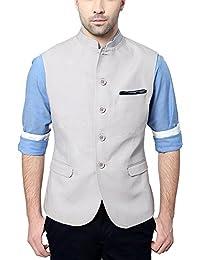 Van Heusen Men's Slim Fit Plain Blazers (Grey, 38)