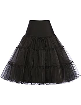 GRACE KARIN 50er Jahre Petticoat Vintage Retro Reifrock Petticoat Unterrock für Wedding Bridal Petticoat Rockabilly...