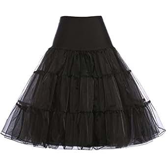 GRACE KARIN® 50er Jahre Petticoat Vintage Retro Reifrock Petticoat Unterrock für Wedding bridal Petticoat Rockabilly Kleid in mehreren Farben
