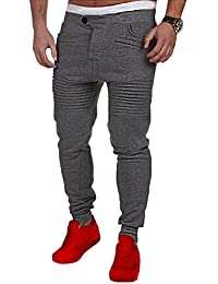 Minetom Hombre Pantalones Largos Sweatpants Sport Pants Fitness Moda Casual Cintura Elástica Deportivos Jogger Cargo Bolsillo Cordón