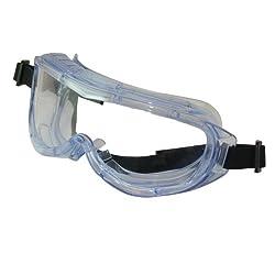 Monture teintée bleu, ventilation intégrée. Verre non teinté résistant aux chocs et aux rayures. Pont à lamelles, serre-tête réglable. Pour les activités de bricolage général et avec outils électriques. Conformes aux normes EN166 et EN170.