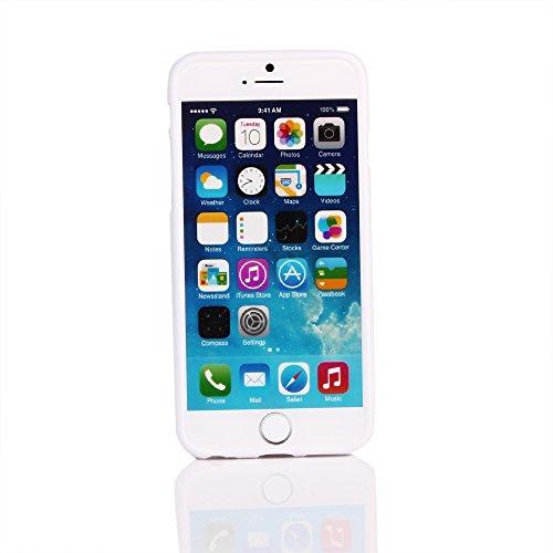 """Kit Me Out FR Coque en gel TPU pour Apple iPhone 6 / 6S 4.7"""" pouces - blanc / rouge / noir coeur style tatouage multicolores / blanc onomatopées BD"""
