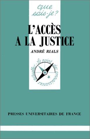 L'accès à la justice