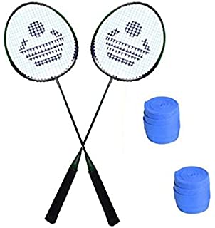 Cosco CB 88 Badminton Racket Pair with Plastic Grip  Pack of 2