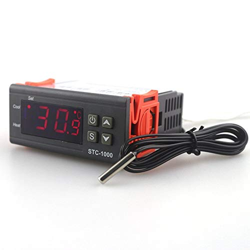 220V Digital Thermostat Incubator Temperature Controller Two Relay Output LED -