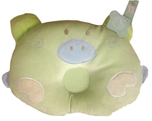 Cochon Comfy Cute Baby Oreillers Prévenir tête plate, Vert