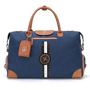 GENTLEMAN SYLT Reisetasche groß 42-51l, Weekender blau Herren, Sporttasche mit Schuhfach, Travel Bag wasserabweisend…