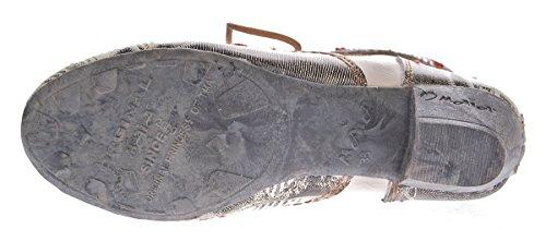 Damen Knöchel Schuhe echt Leder Stiefeletten Muster variieren Comfort Stiefel TMA 7616 Boots 36 - 42 Weiß-Creme
