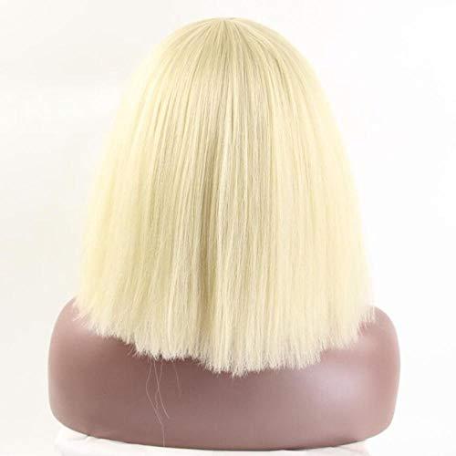 Schwarz Und Blonde Lady Gaga Perücke - WIGXDYP Kurze gerade Blonde Perücke Lady