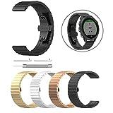 xue binghualoll ersatz Edelstahl Armband Armband für Garmin Forerunner 245/245 mt