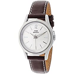THINKPOSITIVE, Mens watch, Model SE W 130 A Big Milano,Imitation leather strap, Unisex, Color brown