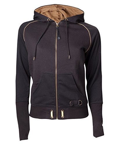 uzenpullover Zipped with Assassin's Logo, Schwarz (Black), X-Large (Assassins Creed Kapuze)