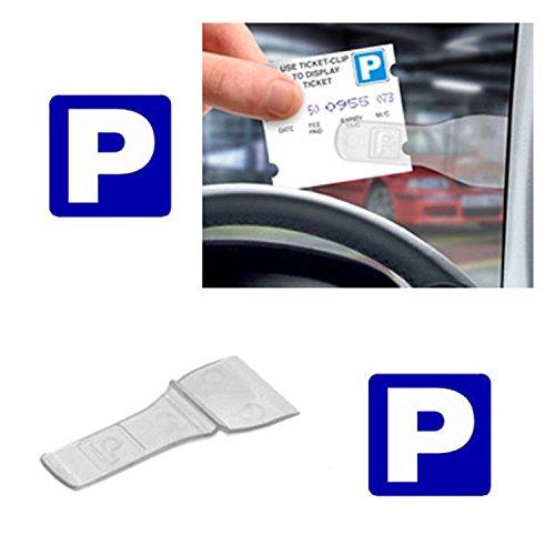Preisvergleich Produktbild 5x Auto Windschutzscheibe Ticket Behindertenausweis Pass Halter Clip (5Pack)