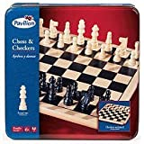 Pavilion Chess & Checkers Board Game Set in a Tin by Toys R Us