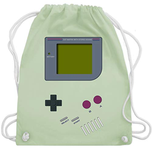 Kostüm Nerdy - Nerds & Geeks - Gameboy - Unisize - Pastell Grün - WM110 - Turnbeutel & Gym Bag
