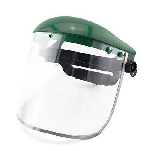 Jia HU 1Professional Face Shield Clear Mask PC Material Anti-Fog chemischen Staub Splash, grün