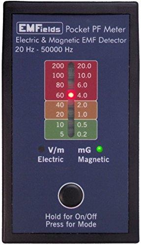 EMFields PF5 Tasche Leistungsfrequenzmesser (elf & VLF) für den privaten Gebrauch: Misst elektrische und magnetische Felder (Gaußmeter) 5 x 1 x 3 Zoll