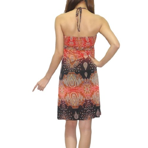 Damen Thai exotic sexy fitted sleeveless summer Dress Mehrfarbig