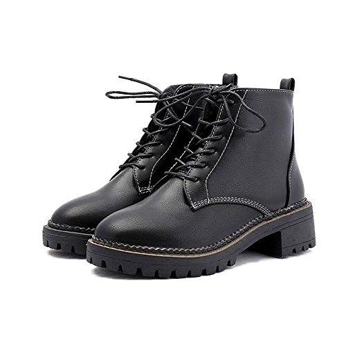 Botas De Mujer, Botas Martin, Botas, Ásperas Con Zapatos De Algodón De Otoño E Invierno, Us7.5 / Eu38 / Uk5.5 / Cn38, 1 Us8 / Eu39 / Uk6 / Cn39
