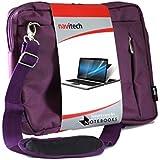 Navitech sacoche de transport besace antichocs pour ordinateur portable ou tablettes tactiles Toshiba 12 Inch Dynapad (Violet)