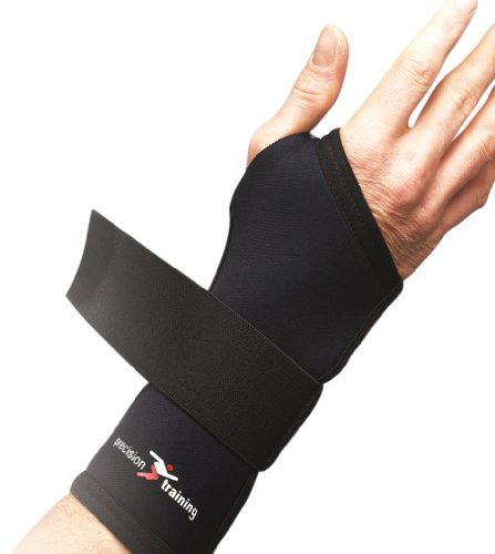 Precision Training Neoprene Wrist Support - Black/Red, Medium by Precision Training