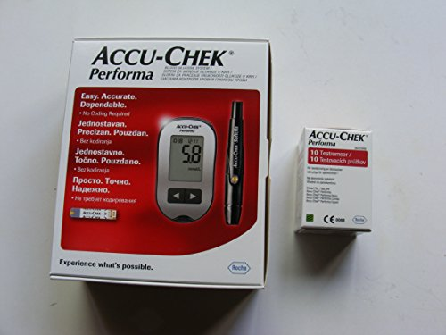roche-accu-chek-performa-blood-glucose-meter-monitor-10-test-strips