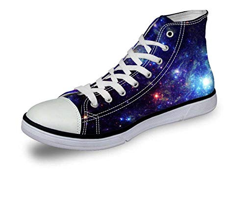 Space Mens Boys Canvas Shoes Indoor Tennis Shoe Casual Boots Size 39-45 Galaxy D0352AV Pattern 2 EU45\u002FUS12