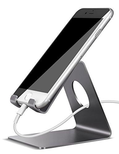Handy Halterung, Lamicall iPhone Dock : Handyhalterung, Handy Halter, Phone Ständer, Handy Ständer für iPhone 7, 7 Plus, 6s 6 / Plus, SE, 5 5s 5c, Samsung A3 A5 J3 J5 J7 S6 S7 S8, Huawei P8 P9 P10 / Lite, Honor 6X, 8, Tisch Zubehör, Schreibtisch, E-Reader, andere Smartphone - Grau