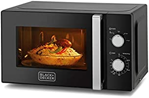 Black+Decker Microwave Oven, Black, 20 litres, Mz2010P-B5, 2 Year Warranty