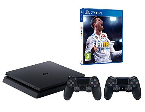 tion 4 Konsole inkl. FIFA 18 + 2 DualShock Controller (Playstation 2 Festplatte)