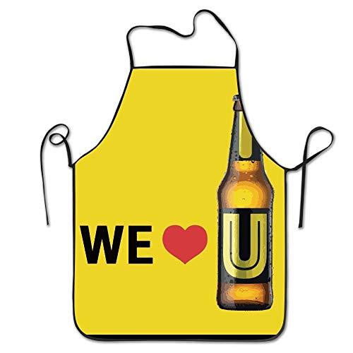 Jhonangel Unisex We Love U Delantal Cerveza Mujeres