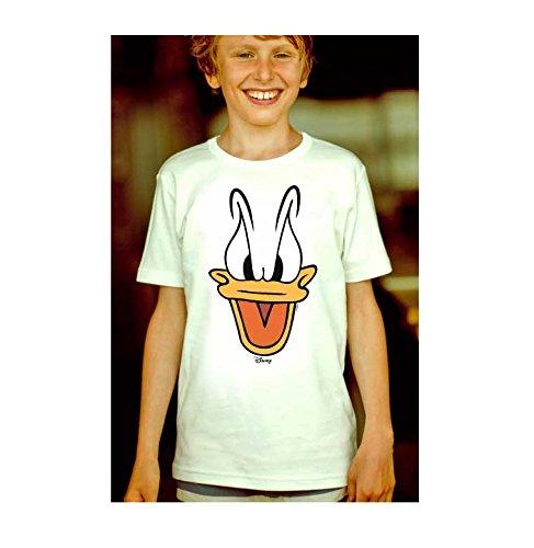 Logoshirt disney - paolino paperino - la faccia t-shirt per bambini - maglia per bambini - quasi bianco - design originale concesso su licenza, taglia 80/86, 18 mesi