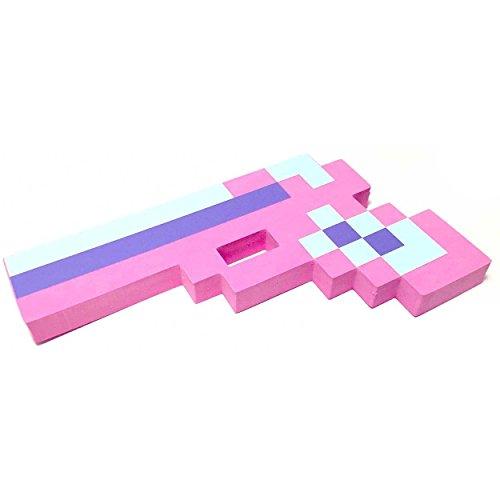 8-Bit Spielzeug Schaum Pixel Pistole - Farbe: Rosa by (Chicken Mask Head)