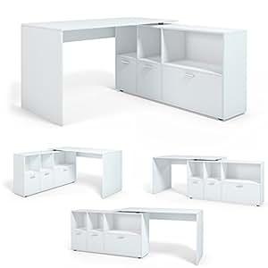 schreibtisch winkelschreibtisch eckschreibtisch computertisch weiss k che haushalt. Black Bedroom Furniture Sets. Home Design Ideas