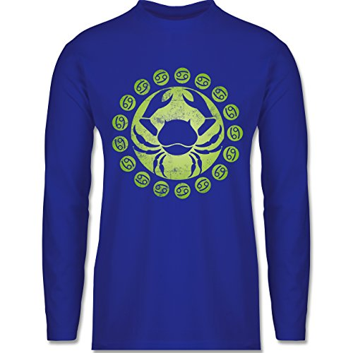 Shirtracer Symbole - Tierkreiszeichen Krebs - Herren Langarmshirt Royalblau