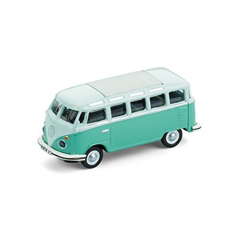corpus delicti :: Modellauto mit Magnet für Kühlschrank und Pinnwand - Kultauto VW Bus T1 Samba Bulli türkis (20.8-33)